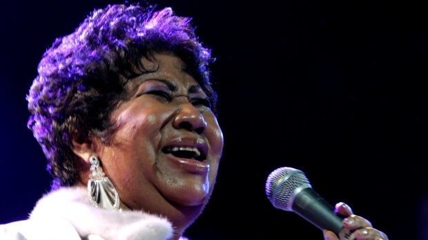 In this Nov. 21, 2008 file photo, Aretha Franklin performs at the House of Blues in Los Angeles. Franklin died Thursday, Aug. 16, 2018 at her home in Detroit. She was 76.(AP Photo/Shea Walsh)