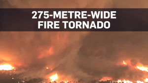 Newly released footage shows 'fire tornado'