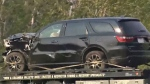 Damaged SUV - Highway 1A shooting