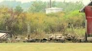 Extensive damage from grass fire