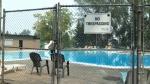 Closed outdoor pool - wildfire smoke