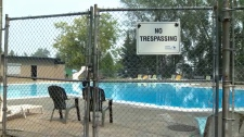 Closed outdoor pool - wildfire smoke