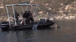 A search and rescue boat searching for a missing 12-year-old girl. (Source: ABC 10 News)