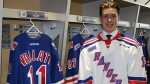 Giovanni Vallati pictured here after signing with the Kitchener Rangers. (Source: Kitchener Rangers)