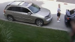 A suspect in an assault in Aurora, whose identity police are not revealing, is in an image taken from security camera footage released by authorities.