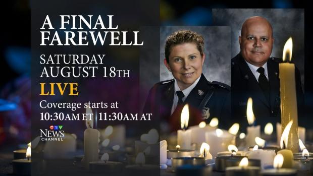 Regimental funeral for Fredericton police officers