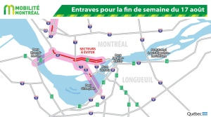 Turcot closures weekend of August 17