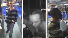 These security footage stills show the suspect in the assault of a bus driver in Halifax on Tuesday night. Halifax police are looking for the public's help in identifying him.