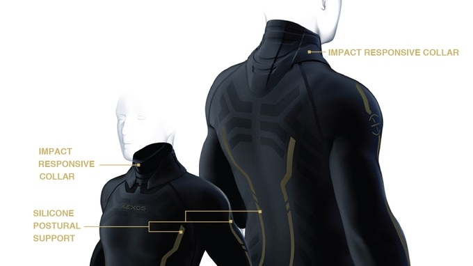 The HALO shirt is designed with so-called smart materials to help reduce concussions. (HALO by AEXOS / Kickstarter)