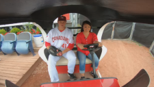 Ann Luu's In Your Shoes: Driving the bullpen cart