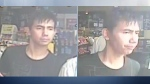 Daniel Atienza, 26, is seen in photos released by Edmonton Police. Supplied.