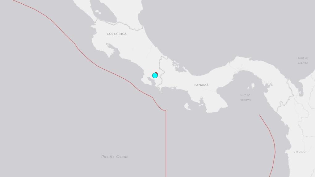 6.0 earthquake shakes southern Costa Rica near Panama