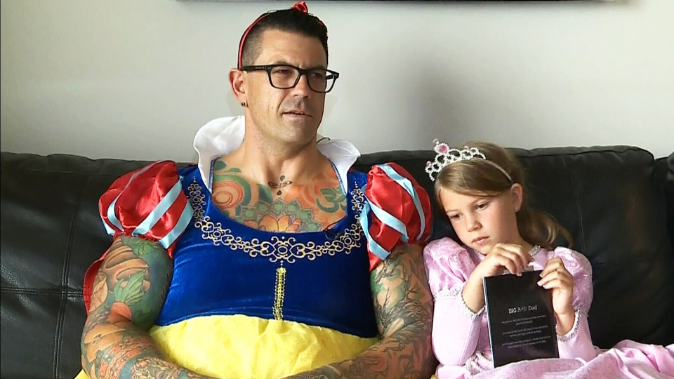 Ryan Bourquin and his daughter, Winnie, sat down one day to write 'Big Bad Dad.' It's now sold in bookstores.
