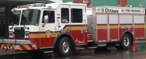 Ottawa Fire firetruck (stock photo)