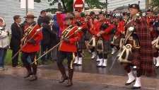 Officers on procession route in Fredericton