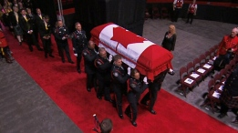 Funeral underway in Fredericton