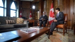 Prime Minister Justin Trudeau meets with Kofi Annan on Parliament Hill in Ottawa on Wednesday, Sept. 28, 2016. THE CANADIAN PRESS/Sean Kilpatrick
