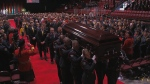 Regimental funeral for Constable Sara Burns and Robb Costello.