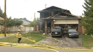 Fire officials say a fire ripped through a home in Temple on Saturday afternoon, but a family of five escaped safely.