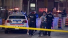 One man is dead following a shooting in Toronto's Corktown neighbourhood. (John Hanley / CP24)