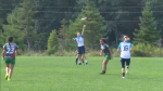 Players compete in the World Junior Ultimate Championship in Waterloo. (Aug. 19, 2018)