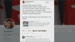 Did Quebec MP's tweet inspire vandalism?