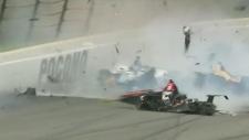 Wickens injured in Indy car crash