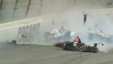 Wickens injured in Indy car crash