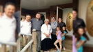 North Dundas Mayor Eric Duncan (second left) is seen with the Syrian family who he temporarily loaned his house for five months.