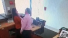 Hotel manager grabs employee's face