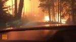 Father, son drive through Montana wildfire to esca
