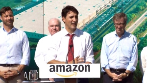 PM Trudeau speaks at groundbreaking event