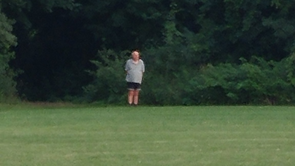 Guelph Police received a photo of a man who was allegedly seen masturbating in a park. (Guelph Police / Twitter)