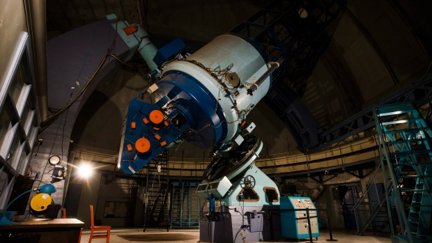 The telescope in the Dunlap Observatory in Richmond Hill, Ont., is photographed on Saturday, August, 18, 2018. (THE CANADIAN PRESS/Christopher Katsarov)