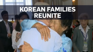 Separated Korean families enjoy brief reunion