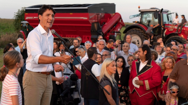 Justin Trudeau in Sabrevois