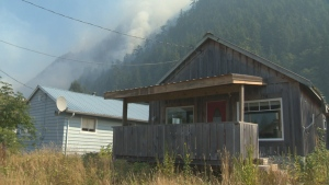 Cabins near Zeballos, a small community on Vancouver Island, are shown on Aug. 18, 2018. (CTV News).