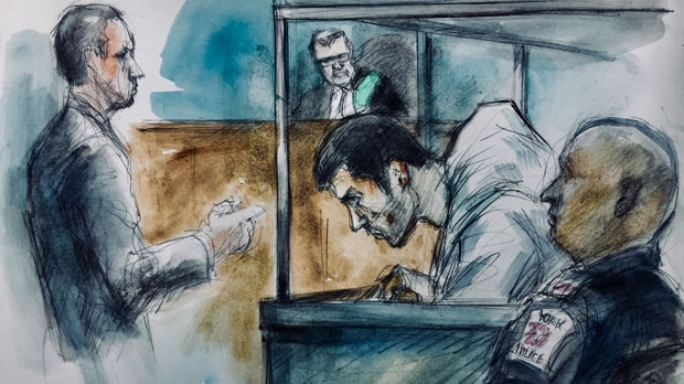 Seyed Yashar Tolouei, 21, of Toronto appears in court on Aug. 20, 2018. (Pam Davies)