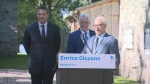 The Premier was in the Beauce with new and returni