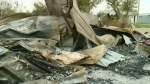 Home lost to fire after triplets