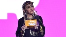 Madonna presents the award for video of the year at the MTV Video Music Awards at Radio City Music Hall in New York on Monday, Aug. 20, 2018. (Chris Pizzello/Invision)