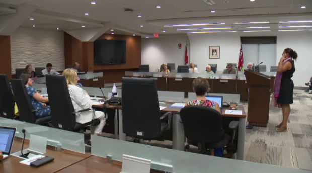 Parents, trustees, and community members met at the Waterloo Region District School Board meeting Monday night.