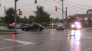 Crash at Union Boulevard and Park Street in Waterloo due to heavy rain.