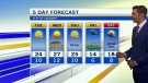 Warm but smoky. Kevin has the details ..