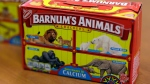 This Monday, Aug. 20, 2018, photo shows boxes of Nabisco's Barnum's Animals crackers in Chicago. (AP Photo/Kiichiro Sato)