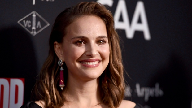 Natalie Portman arrives at the LA Dance Project Annual Gala and Unveiling of New Company Space on Saturday, Oct. 7, 2017, in Los Angeles. A musical drama starring Natalie Portman and a thriller with Chloe Grace Moretz and Isabelle Huppert have been added to the Toronto International Film Festival. (THE CANADIAN PRESS/AP, Jordan Strauss/Invision)