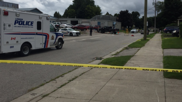 Police investigation on Kitchener Ave. in London