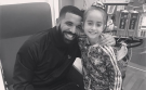 Rapper Drake poses for a photo with 11-year-old Sofia Sanchez. (@Champagnepapi/Instagram)
