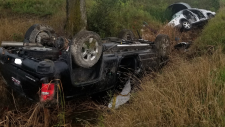 Crash on Inwood Road at Rokeby Line on Aug. 21, 2108 (OPP)