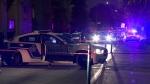 Montreal police on the scene of a shooting on Aug. 21, 2018. (Cosmo Santamaria/CTV Montreal)